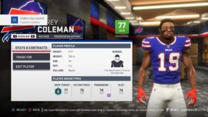 The first roster update included the trade of Corey Coleman from the Cleveland Browns to the Buffalo Bills.